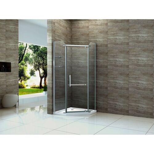 ALPHABAD Fünfeck-Duschkabine POLIGO 100 x 100 x 195 cm inkl. Duschtasse