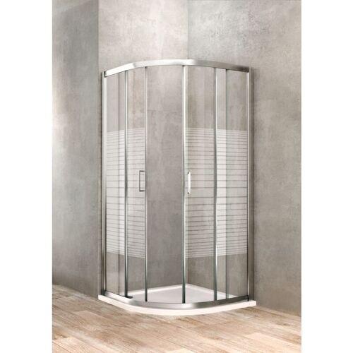 Ponsi Rubinetteria - Halbrunde Duschkabine 90 x 90 Siebdruckglas Ponsi