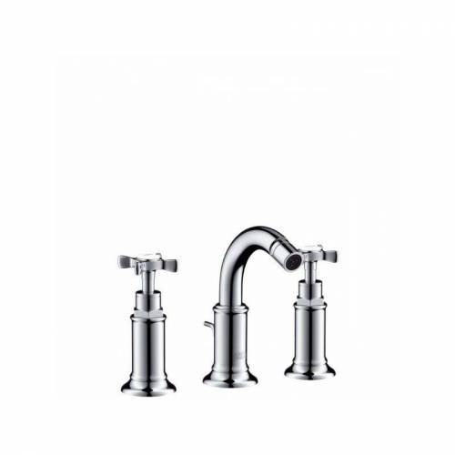 Hansgrohe 3-Loch Bidetarmatur Axor Montreux brushed nickel-'41062053' - Hansgrohe
