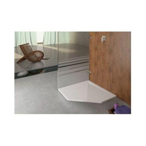 Hoesch Fünfeck-Duschwanne MUNA ultraflach, mit Antirutsch 900 x 900 x
