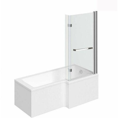 Home Deluxe - Badewanne inkl. Duschwand Elara (links)   Wanne,
