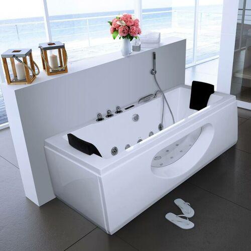 Home Deluxe - Whirlpool Badewanne Laguna M weiß   Eckwanne, Whirlwanne,