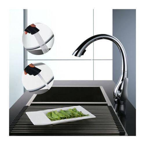 Homelody - Ausziehbar Küchenarmatur mit 360° schwenkbar Chrom, 2 Modus