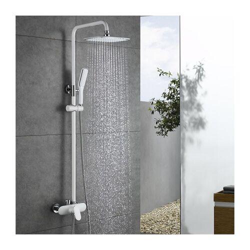 HOMELODY Duscharmatur Weiß Duschsystem Rainshower Regendusche Duschset