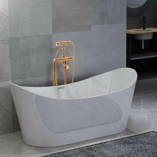 Hommoo Freistehende Badewanne und Wasserhahn 204 L 99,5 cm Golden