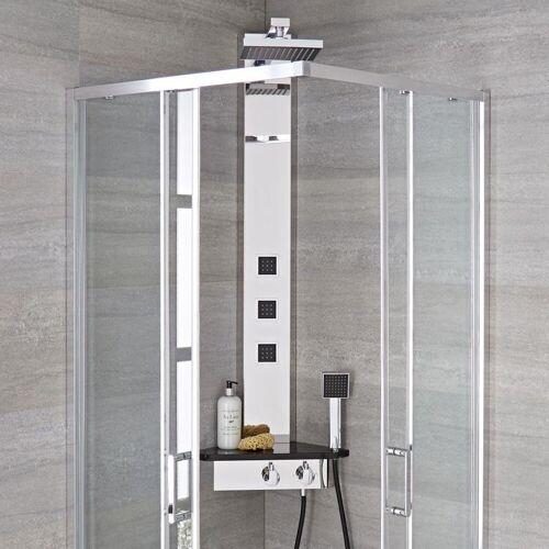 HUDSON REED Duschpaneel Alcove - Thermostatisches Duschpaneel zum Eckeinbau aus