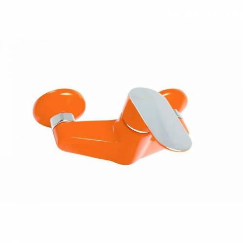 Tecuro - KEVON CHIC Einhand-Duscharmatur / Brausearmatur chrom/orange
