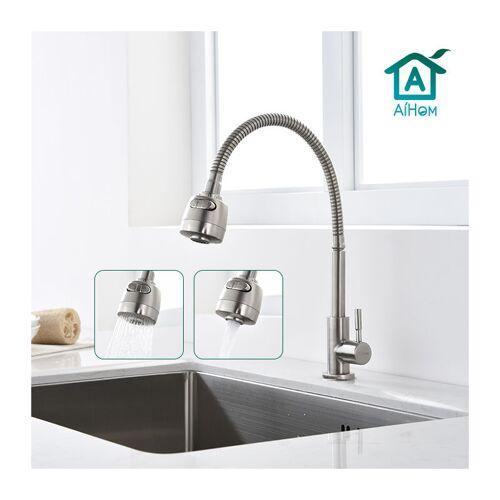 AIHOM Kaltwasserhahn Küchenarmatur 304 Edelstahl Wasserhahn Küche 360 °