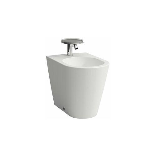 LAUFEN Kartell Stand-Bidet, 1 Hahnloch, 370x545x430, Farbe: Snow (weiß matt)