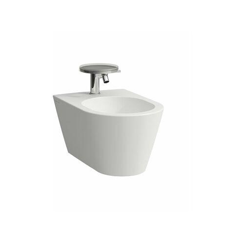 LAUFEN Kartell Wand-Bidet, 1 Hahnloch, 370x545x430, Farbe: Snow (weiß matt)