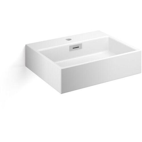 Lineabeta Keramikbecken Waschbecken 50cm weiß matt, 53709.26