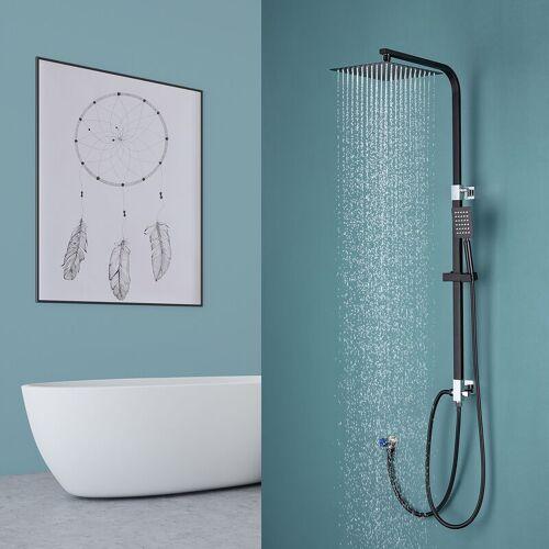LONHEO Duschsystem Duschsäule mit Überkopfbrause und Drei Funktionen