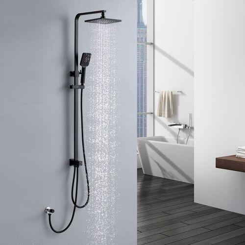 Lonheo Duschsystem Schwarz Duschset Regenduschset Duschsäule