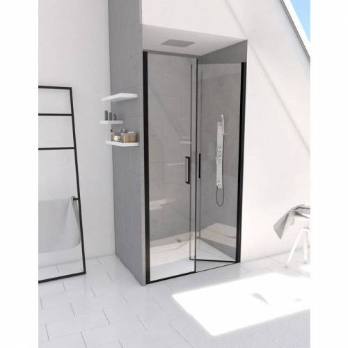 MARWELL Saloon 80 x 200 cm in schwarz - stylische Design Glasdusche
