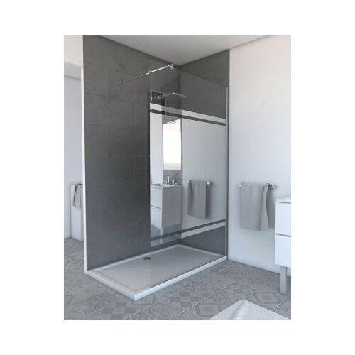 MARWELL Walk IN 120 x 200 cm PLANO begehbare Duschwand mit barrierefreiem