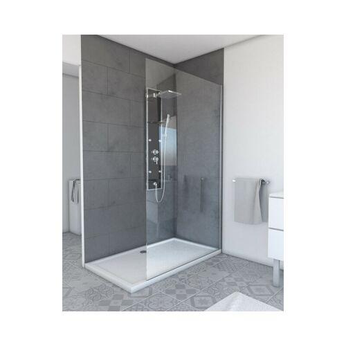 MARWELL Walk IN 120 x 200 cm PLANO begehbare Duschwand mit barrierefreien
