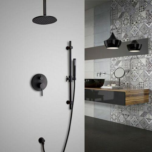 KROOS® Messing-Thermostat-Duschsystem thermostatisch mit Duschstange 300 mm