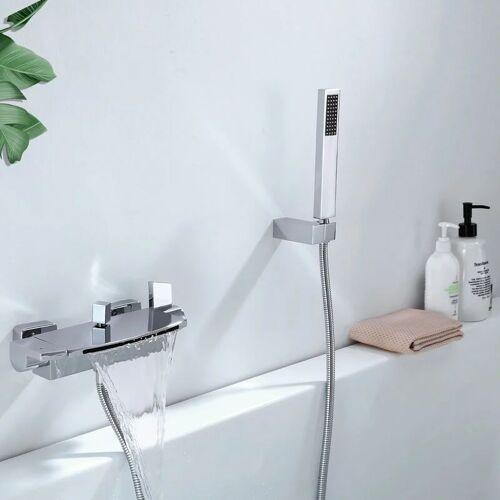 Homelody - Moderne Badewannenarmatur mit Regal, Wannenarmatur