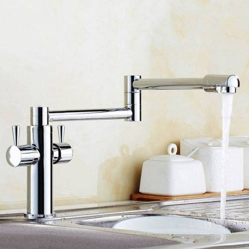 LOOKSHOP® Lookshop ® - Moderne Küchenarmatur mit versenkbarem Chromauslauf
