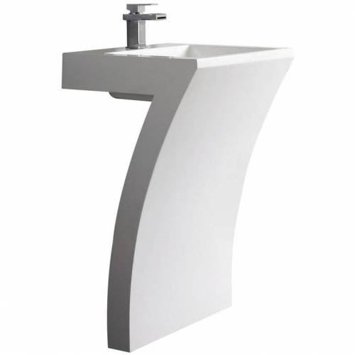 HUDSON REED modernes Standwaschbecken 7-förmig