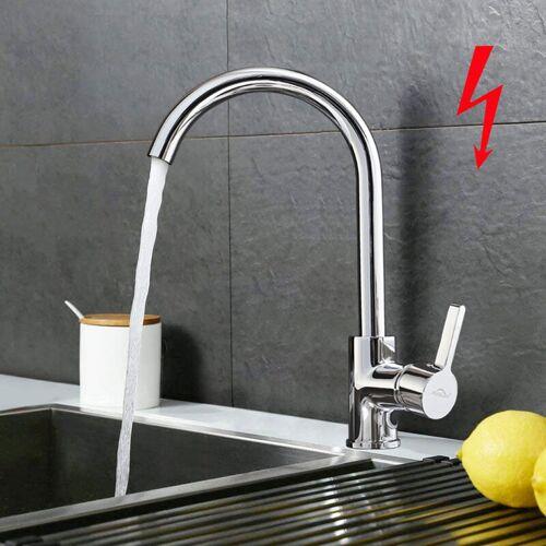 AURALUM Niederdruck Wasserhahn Küchenarmatur Chrom Niederdruckarmatur