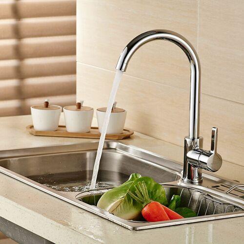 AURALUM Niederdruck Wasserhahn Küche Armatur, 360° Drehbar Niederdruckarmatur