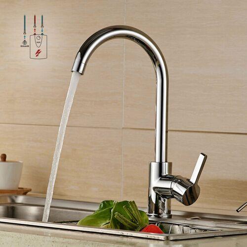 AURALUM Niederdruck Wasserhahn Küche   Küchenarmatur Chrom Niederdruckarmatur