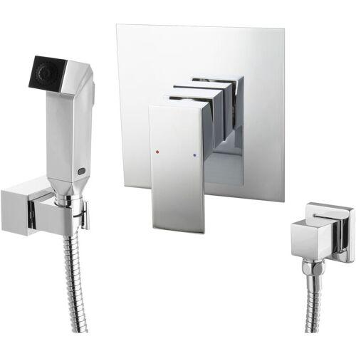 Paulgurkes - Bidet Unterputz Armatur Set eckig Intimdusche Hygienedusche