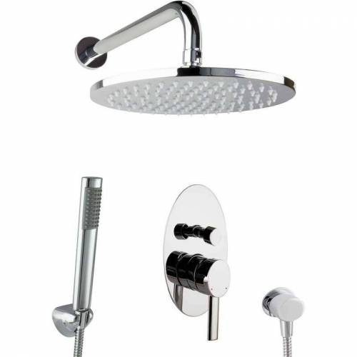 Paulgurkes - Dusch Komplett Set Unterputz Regendusche oval Luxus