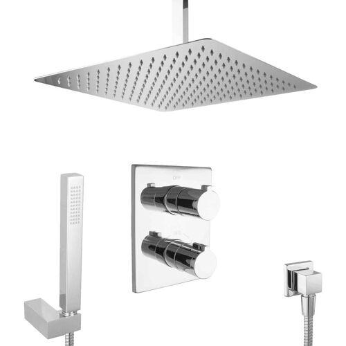 Paulgurkes - Dusch Set 40cm Unterputz Regendusche mit Thermostat