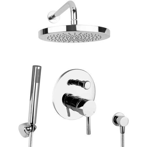 PAULGURKES Regendusche Duschsystem Duschset unterputz rund Set