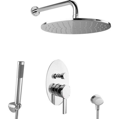 Paulgurkes - Regendusche Unterputz Dusch Set oval Komplett