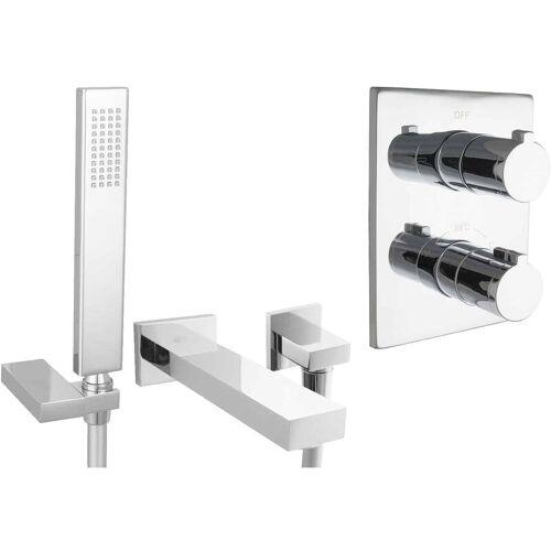 PAULGURKES Set für Badewannen mit Thermostat Wanneneinlauf