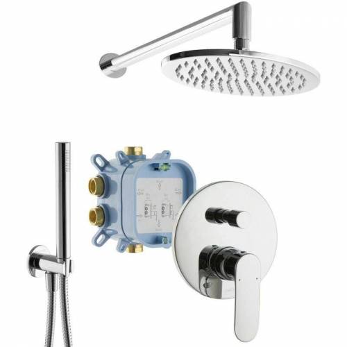Paulgurkes - UP-Dusche Set Fertigdusche Komplett Regendusche mit Armatur