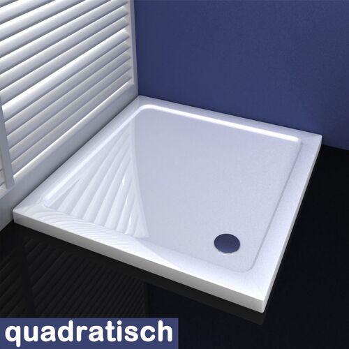 Aica 80x80cm Duschkabine Duschtasse aus Kunststein