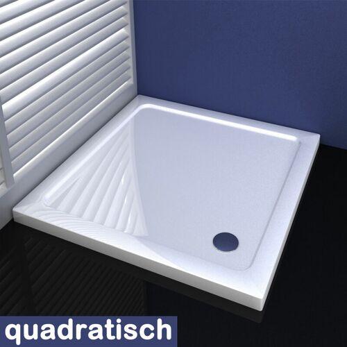 Aica 100x100cm Duschkabine Duschtasse aus Kunststein - Aica
