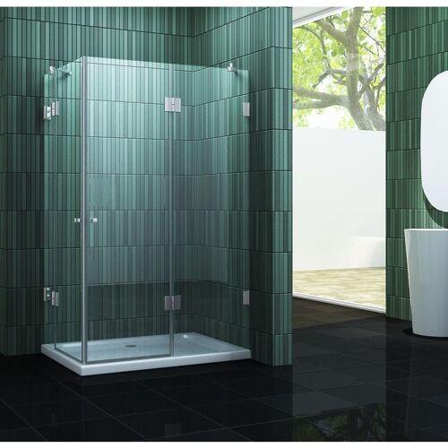 IMPEX-BAD rahmenlose Duschkabine MARCOLO 90 x 75 x 195 cm ohne Duschtasse