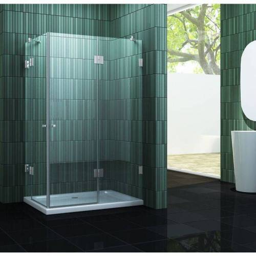 IMPEX-BAD rahmenlose Duschkabine MARCOLO 100 x 80 x 200 cm inkl. Duschtasse