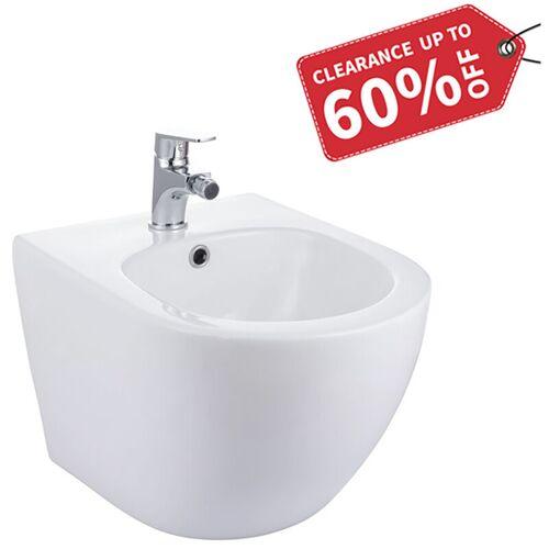 HOMELODY Randlos-Tiefspüler-Hänge-WC&Bidet+ Bidetarmatur mit Überlaufschutz,