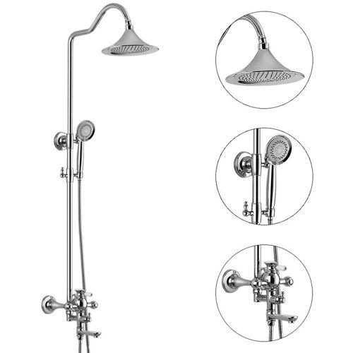 SANLINGO Duschset Dusche Badewanne Chrom Regenschauer Handbrause Wanneneinlauf