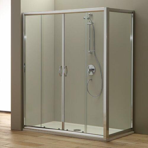 KIAMAMI VALENTINA Duschtür Für Duschnische Giada 170 Cm Mit Fester Tür 80 Cm - KIAMAMI