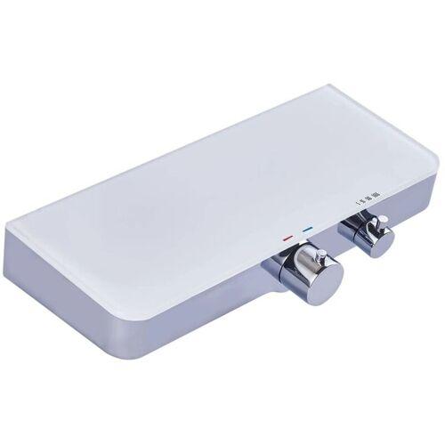 SCHÜTTE Thermostatische Dusch-Mischbatterie mit Ablage OCEAN Weiß