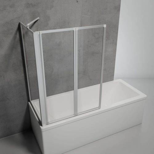 SCHULTE Duschabtrennung für Badewanne Smart, 2-teilig mit Seitenwand,