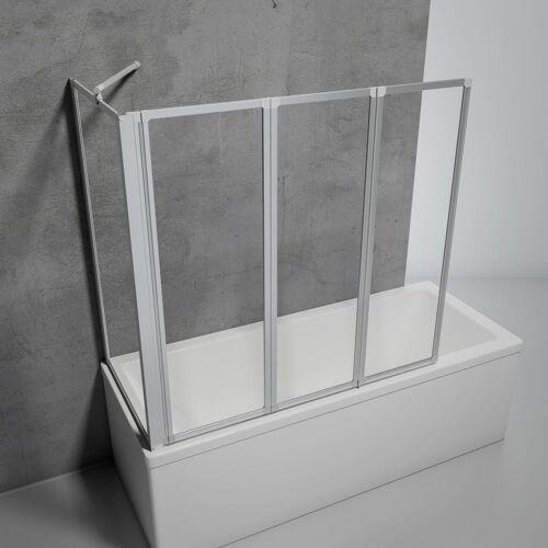 SCHULTE Duschabtrennung für Badewanne Smart, 3-teilig mit Seitenwand, 3 mm
