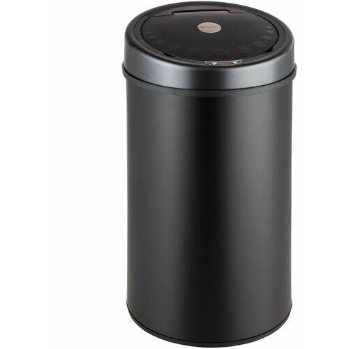 TECTAKE Sensormülleimer - Mülleimer, Papierkorb, Abfalleimer - 50 L - schwarz