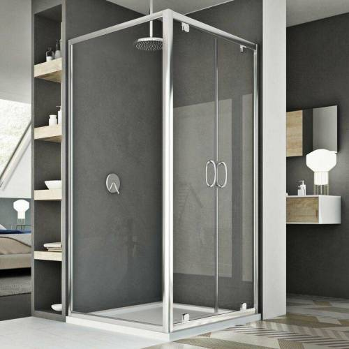 IDRALITE Sintesi Duo 2 Türen Duschkabine 110x90 ÖF. 110 CM H185 Klarglas