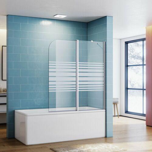 SONNI Badewannenaufsatz Glas Dusche Duschkabine Duschwand Badewannen Faltwand