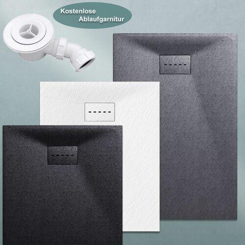 SONNI Design Duschwanne Duschtasse Flach aus SMC Brausewanne Super Flache 90