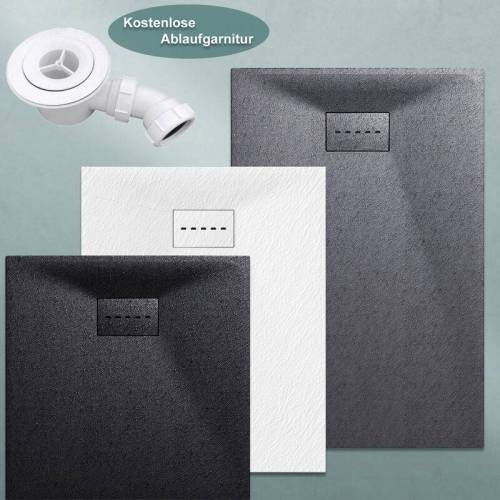 SONNI Design Duschwanne Duschtasse Flach aus SMC Brausewanne Super Flache 160
