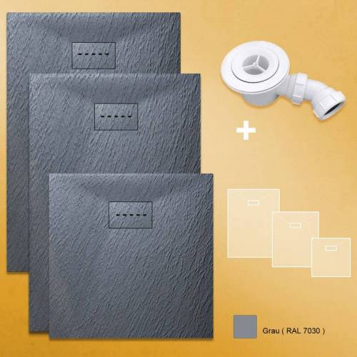 SONNI Design Duschwanne Duschtasse Flach aus SMC Brausewanne Super Flache 80